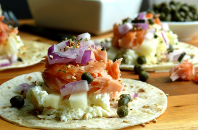 smoked-salmon-brunch-taco-bar