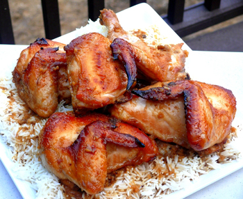 sweet tangy plum spiced chicken