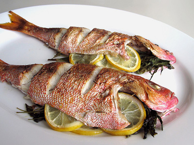 Baked Red Snapper With Lemon And Tarragon Cooking And